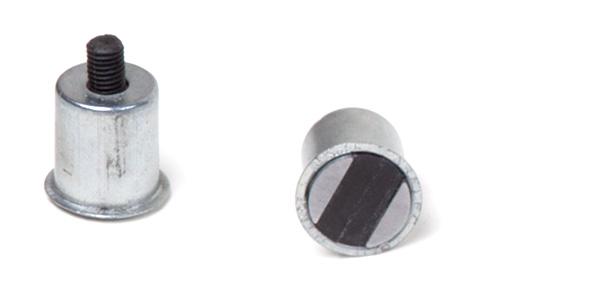 Zylinder mit Gewindestift Magnet Serie CF 0 mit Kragen